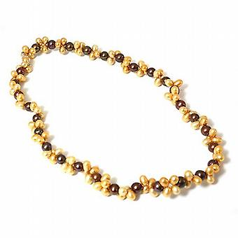 Toc Byzantium & Orange Peel Dyed Baroque Freshwater Cultured Pearl 18 Inch