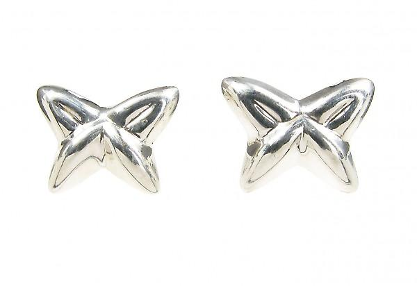 Cavendish French Sterling Silver Shaped Butterfly Stud Earrings