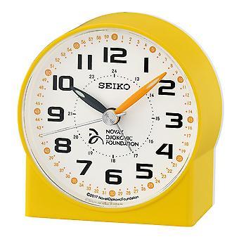 Seiko Novak Đoković Stichting alarm klok plastic-geel (QHE907Y)