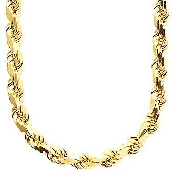 Sterling 925 zilveren koord ketting-HOLLe kabel 8mm goud