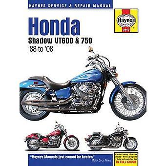 Honda Shadow VT600 & 750 Motorcycle Repair Manual - 1988-14 (2nd Revis