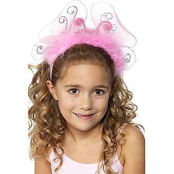 斯米菲·阿波斯;女孩;粉红闪光头带