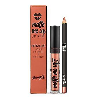Barry M Matte Me Up Metallic Lip Kit 24 Carat