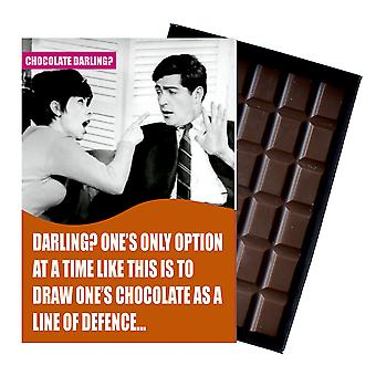Funny Gift To Say Sorry to Girlfriend Women Boxed Chocolate Greeting Card Present CDL119