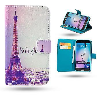 Samsung Galaxy S6 Edge geval/lederen portemonnee-Parijs