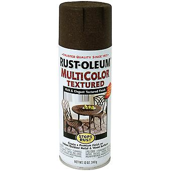 Stops Rust Multi Color Textured Aerosol Paint 12 Ounces Autumn Brown Srm 3523
