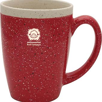 Knit Happy Retreat Mug 16Oz Red Kh115 Re