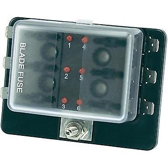 Car fuse holder incl. status indicator Suitable for Blade-type fuse (standard) 30 A 32 Vdc SCI R3-76-01-3L106 1 pc(s)