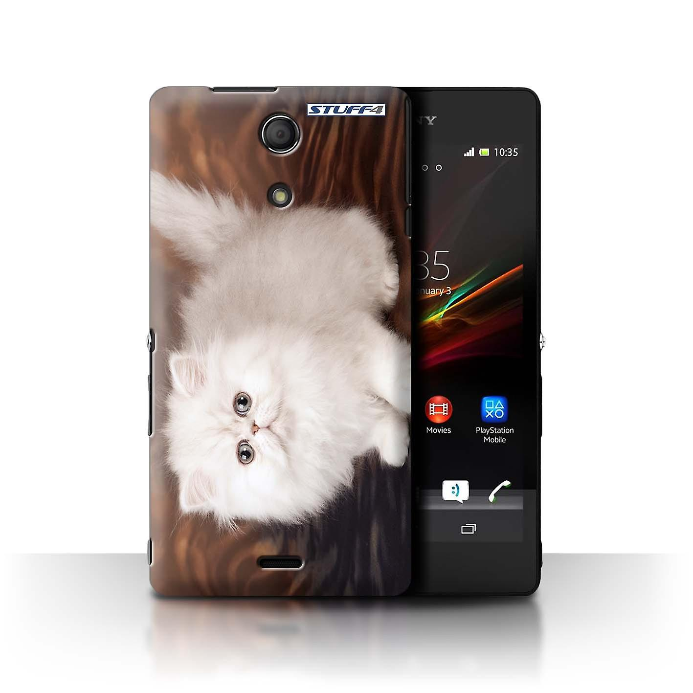 STUFF4 Case Cover for Sony Xperia ZR White & Fluffy Cute Kittens Stuff4 Housses pour téléphones mobiles