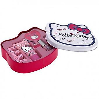 Hello Kitty Manicure Set Case (Woman , Esthetics , Manicure And Pedicure , Nail Clippers)
