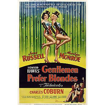 Gentlemen Prefer Blondes Movie Poster Masterprint