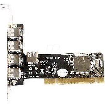 Longshine PCI Card 4 + 1 havne USB 2.0