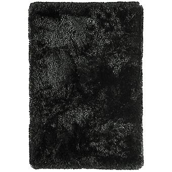 Oriel Gloss Black Shaggy Rug