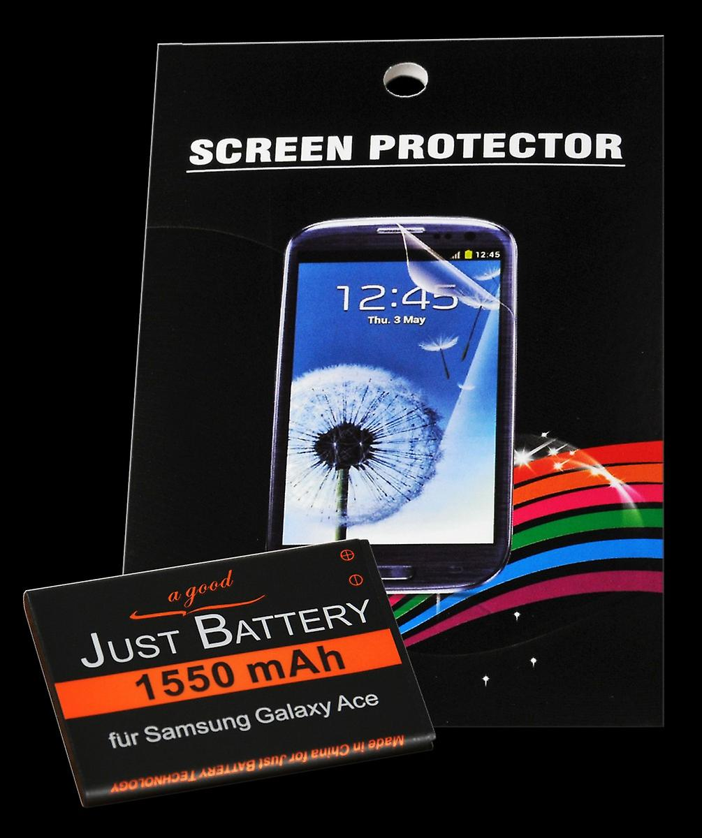 Battery + 4 x film for Samsung GT-s5830 Galaxy ACE