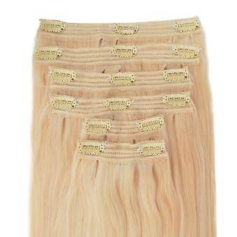 #60 Barbie Blonde - Clip-in Hair Extensions - Full Head - Deluxe
