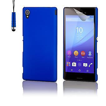 Hartschale Case + Stift für Sony Xperia M4 Aqua - Blau
