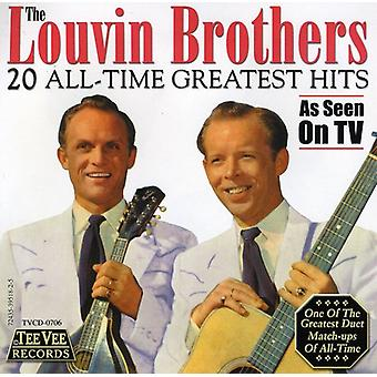Louvin brødre - 20 All-Time Greatest Hits CD] USA importerer
