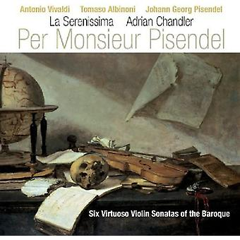 Por Monsieur Pisendel - por Monsieur Pisendel: Seis Virtuoso sonatas para violín de la importación de barroco USA [CD]