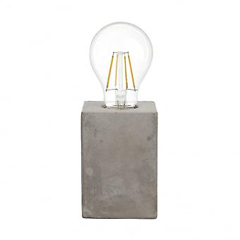 Eglo PRESTWICK Grey Concrete Block Table Light