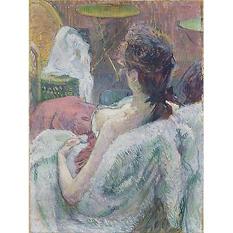 Henri Toulouse Lautrec - The Model Resting Poster Print Giclee
