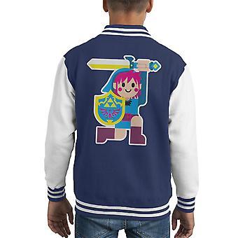 Link Simple Artwork Legend OF Zelda Kid's Varsity Jacket