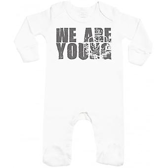 Spoilt Rotten We Are Young Baby Sleepsuit With Scratch Mitts