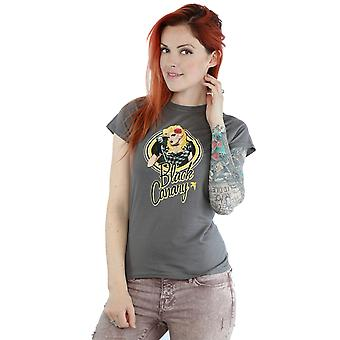 DC Comics Women's Bombshells Black Canary Badge T-Shirt
