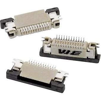 Receptacles (standard) ZIF FPC Total number of pins 14 Würth Elektronik 68711414522 Contact spacing: 0.50 mm 1 pc(s)