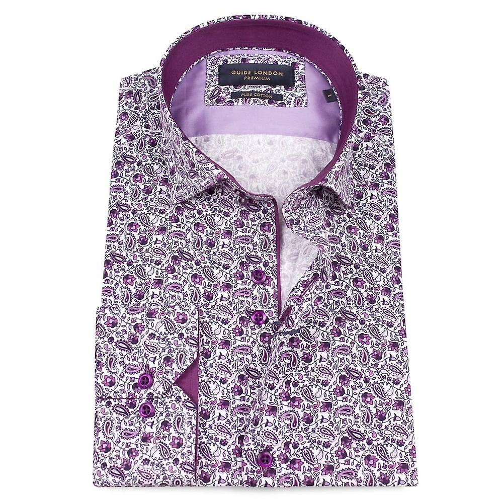 Guide London Delicate Paisley Print Mens Shirt