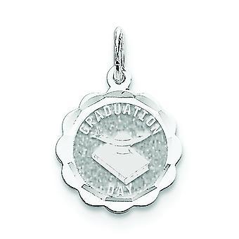 Sterling Silber solide Schlossdrücker Graduierung Tag Disc Charme -.9 Gramm