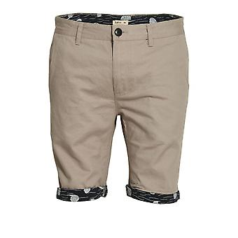 BELLFIELD Walton Printed Turn Up Chino Shorts