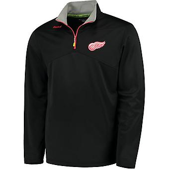 Reebok center ice baselayer 1/4 zip NHL jacket Detroit Red Wings