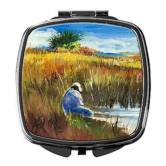 Carolines Treasures  JMK1274SCM Fishing on the bank Compact Mirror
