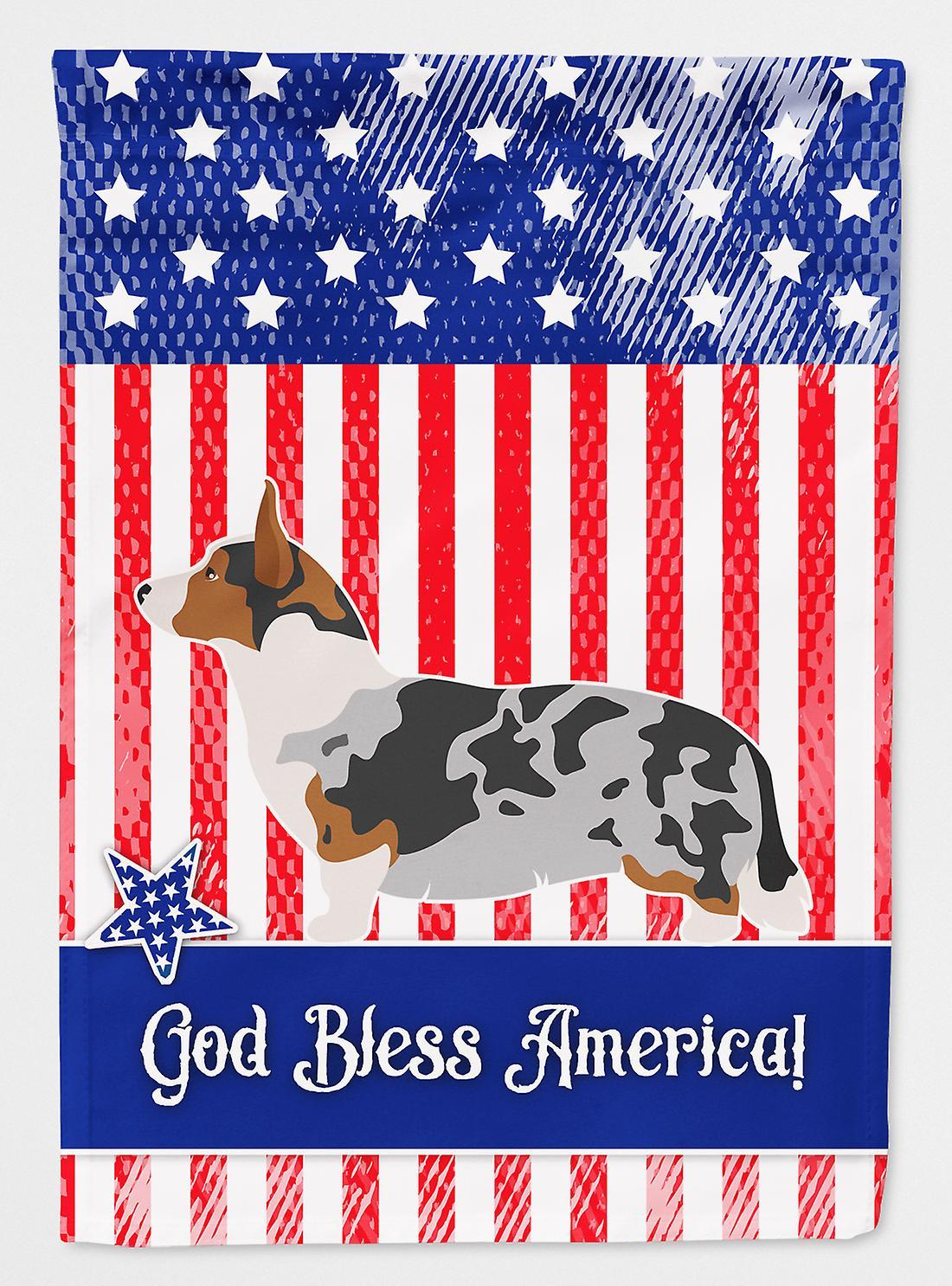 Welsh Corgi Cardigan drapeau américain toile maison Taille