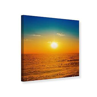 Lærred Udskriv havet ved solnedgang