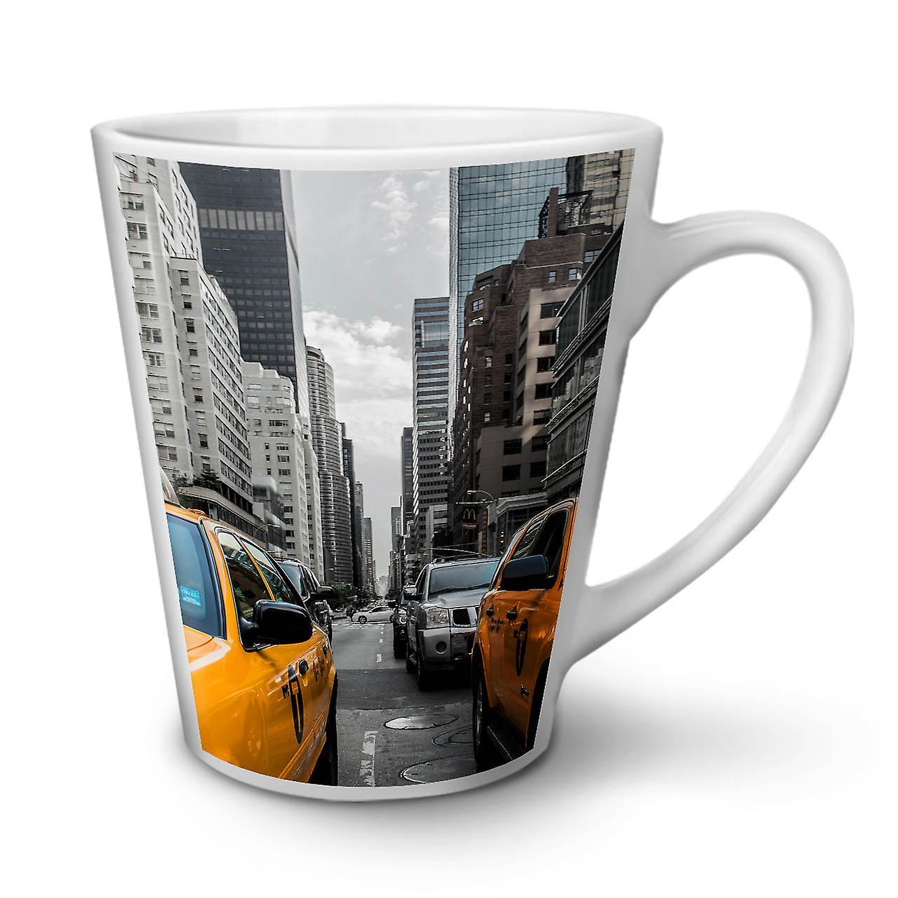 12 Blanche En Céramique OzWellcoda Café Nouvelle Taxi Usa Tasse Latte Mode Urbain toQxhrBsdC