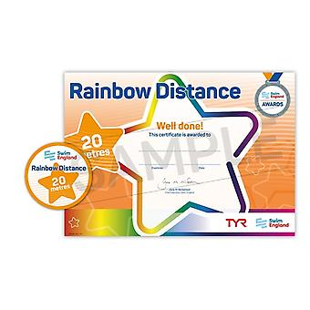 ASA Swim England Rainbow Distance Swimming Award - 20M