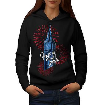 Wielka Brytania wieża wieża nowej kobiety BlackHoodie | Wellcoda