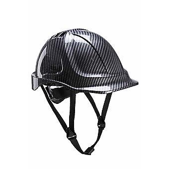 sUw - Site Safety werkkleding uithoudingsvermogen Carbon Look helm Hard Hat Grey