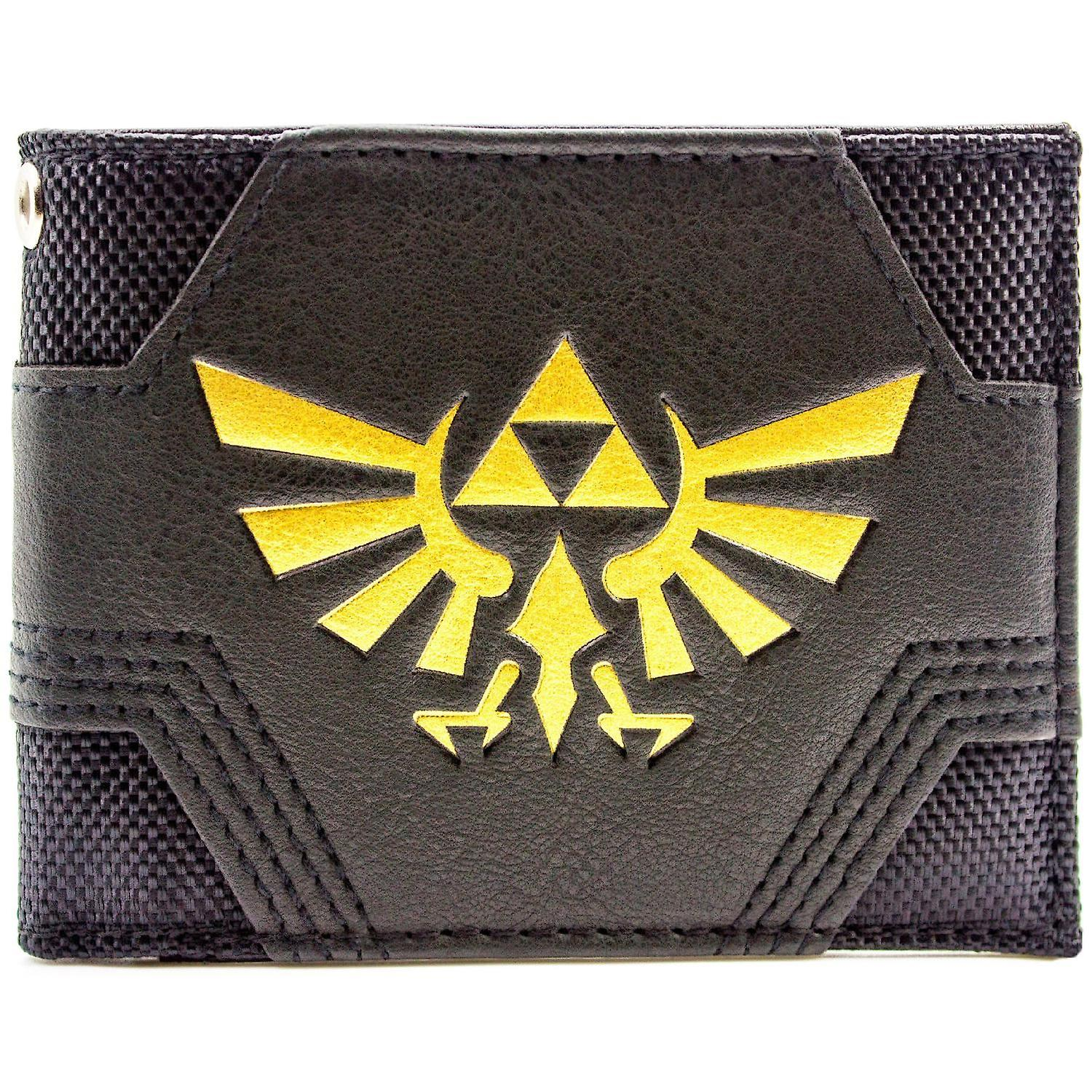 Nintendo Zelda Textured Gold Triforce ID & Card Bi-Fold Wallet