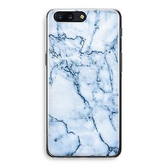 OnePlus 5 Transparant Case - Blue marble