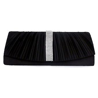 Cover of night black and Crystal white handbag