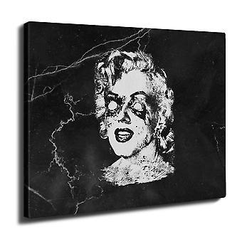 Celebrità famosa Monroe Wall Art su tela 50 x 30 cm | Wellcoda