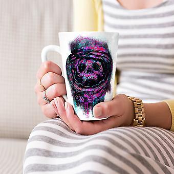 Astronauta czaszki przestrzeni Nowa Biała herbata kawa Latte ceramiczny kubek 17 oz   Wellcoda
