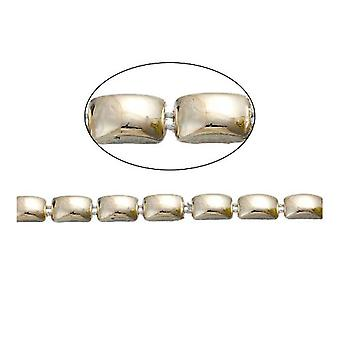 1.8m x Pale Gold Acrylic 8 x 12mm Closed Decorative Link Chain CH2995