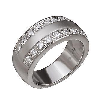 Orphelia Silver 925 Ring Satin  Zirconium   ZR-3661