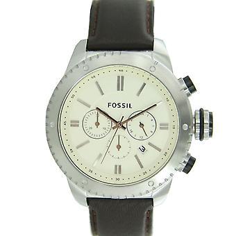 Fossil men's watch chronograph wristwatch leather BQ1052