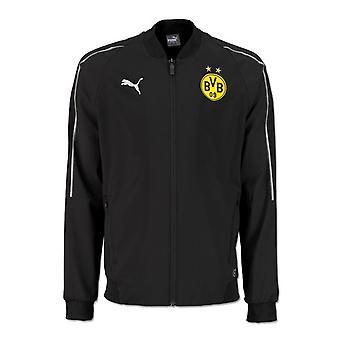 2018-2019 Borussia Dortmund Puma wypoczynek kurtka (czarny)