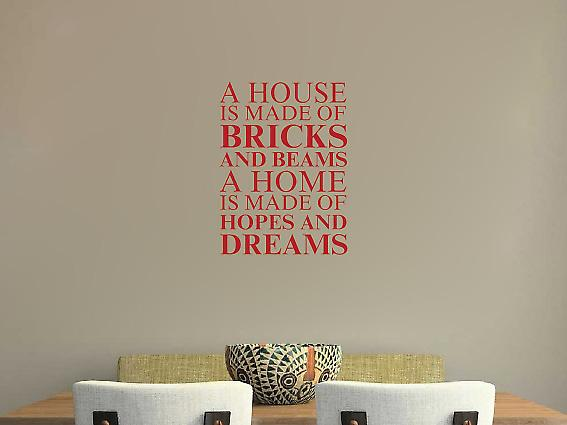 A house is made of Wall Art Sticker - Dark Blue