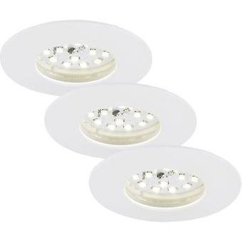 LED bathroom recessed light 3-piece set 15 W Warm white EEC: LED (A++ - E) Briloner 7204-036 White